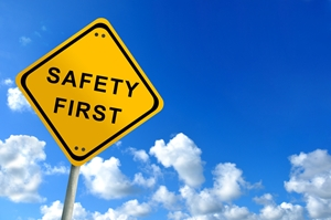 Safety is important when checking for gas leaks.